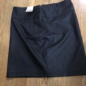 SM Faux Black Leather Mini Skirt